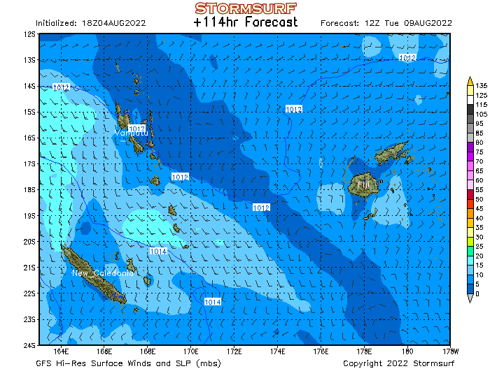 Weather model fiji surface pressure and wind stormsurf gumiabroncs Choice Image