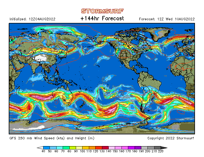 Weather Model Global Jet Stream Wind And Mb Pressure STORMSURF - Us jetstream map
