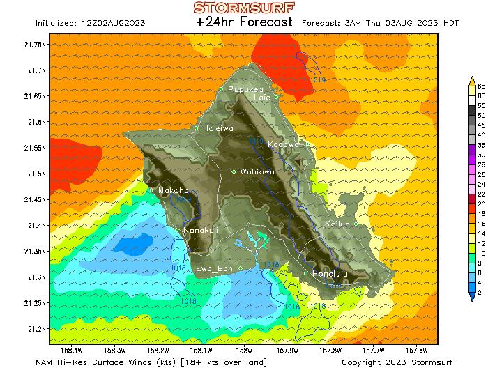 Weather Model Oahu Wind Forecast Stormsurf