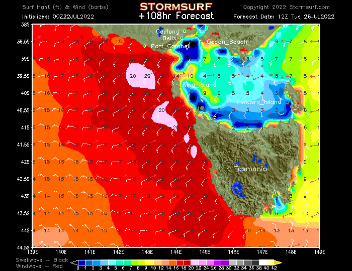 Wave Model - Victoria Surf Height (STORMSURF)