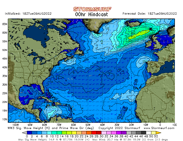 N. Atlantic Significant Sea Height Animation