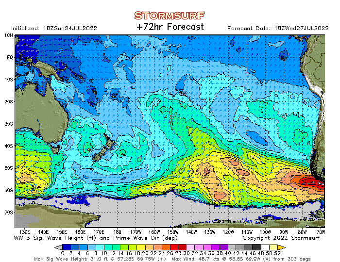 Wave Model - South Pacific Sea Height (STORMSURF)